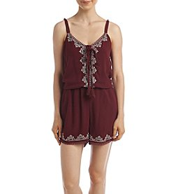 Sequin Hearts Embroidered Romper