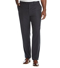 Lauren® men's Big & Tall Plaid Flat Front Pants