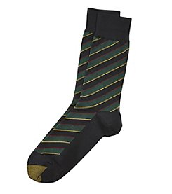GOLD TOE® Striped Crew Socks
