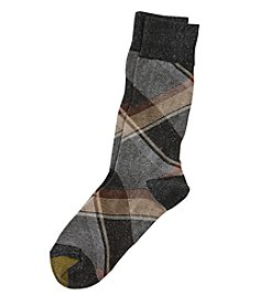 GOLD TOE® Boho Plaid Crew Socks