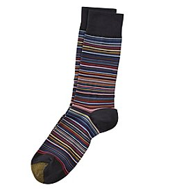 GOLD TOE® Frankie Striped Crew Socks