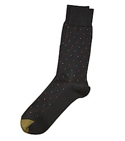 GOLD TOE® Textured Dot Crew Socks