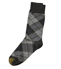 GOLD TOE® Bias Plaid Crew Socks