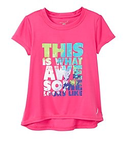 Exertek® Girls' 4-6X Short Sleeve Awesome Looks Like Tee