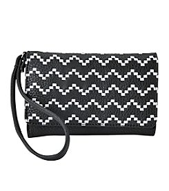 Relativity® Embroidered Bifold Cell Wristlet