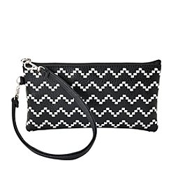 Relativity® Zig Zag Embroidered Wristlet