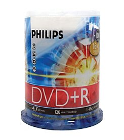 Philips 17 4.7gb 16x Dvd+rs (100-ct Cake Box Spindle)