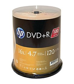 Hp 4.7gb 16x Dvd+rs (100-ct Cake Box Spindle)