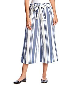 Penelope Rose Cropped Striped Pants