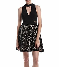 Xscape Choker Neckline Party Dress