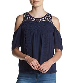 Skylar & Jade® Crochet Cold-Shoulder Top
