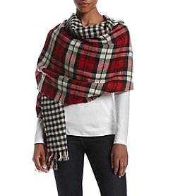 Steve Madden Red Reversible Blanket Wrap