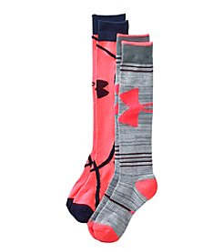 Under Armour® Women's 2-Pack Armourstyle Knee High Socks