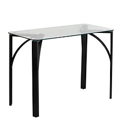 Flash Furniture Contemporary Desk with Tempered Glass Top