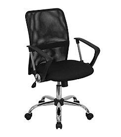 Flash Furniture Mid Back Mesh Swivel Task Chair with Chrome Base and Arms