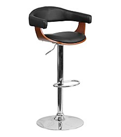 Flash Furniture Bentwood Adjustable Height Barstool with Vinyl Seat