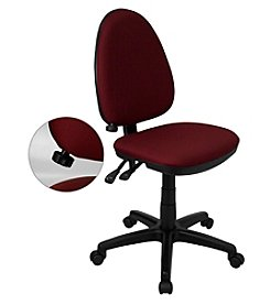 Flash Furniture Mid Back Fabric Multifunction Swivel Task Chair with Adjustable Lumbar Support