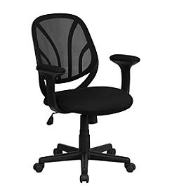 Flash Furniture Mid Back Mesh Swivel Task Chair with Arms