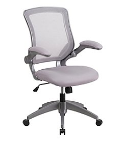 Flash Furniture Mid Back Mesh Swivel Task Chair with Frame and Flip Up Arms