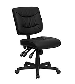 Flash Furniture Mid Back Leather Multifunction Swivel Task Chair
