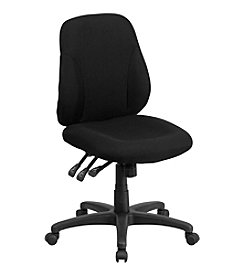Flash Furniture Mid Back Fabric Multifunction Ergonomic Swivel Task Chair