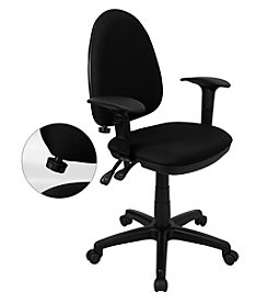 Flash Furniture Mid Back Fabric Multifunction Swivel Task Chair