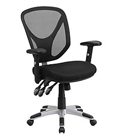 Flash Furniture Mid Back Mesh Multifunction Swivel Task Chair with Adjustable Arms