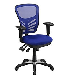 Flash Furniture Mid Back Mesh Multifunction Executive Swivel Chair with Adjustable Arms