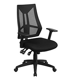 Flash Furniture High Back Mesh Multifunction Swivel Task Chair with Adjustable Arms