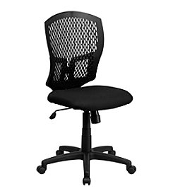 Flash Furniture Mid Back Designer Back Swivel Task Chair with Fabric Seat