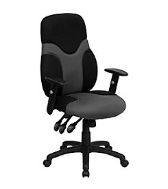 Flash Furniture High Back Ergonomic and Gray Mesh Swivel Task Chair with Adjustable Arms