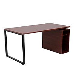 Flash Furniture Computer Desk with Open Storage Pedestal