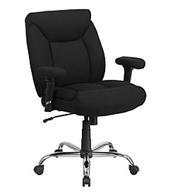 Flash Furniture Hercules Series Big & Tall Rated Swivel Task Chair with Adjustable Arms
