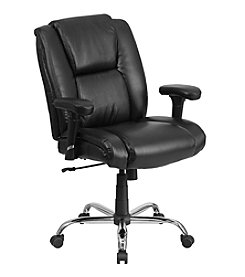 Flash Furniture Hercules Series Big & Tall Rated Leather Swivel Task Chair