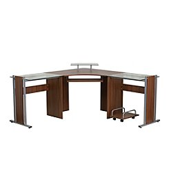 Flash Furniture Laminate Corner Desk with Pull-Out Keyboard Tray and CPU Cart