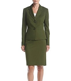 LeSuit® Two Button Skirt Suit
