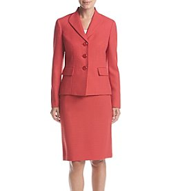 LeSuit® Three Button Skirt Suit
