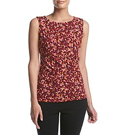 Anne Klein® Confetti Print Side Twist Top