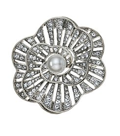 Napier® Faux Pearl Flower Pin