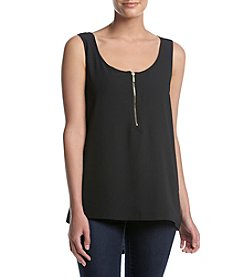 August Silk® Zipper Top