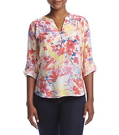 NY Collection Petites' Allover Print Top