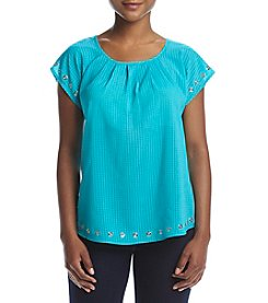 NY Collection Petites' Scoop Neck Dolman Top