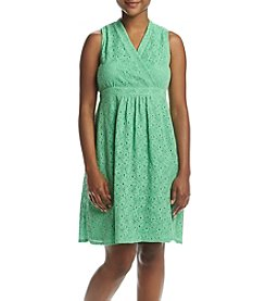 NY Collection Petites' V-Neck Dress