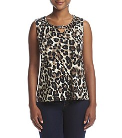 NY Collection Petites' Gathered Neck Top