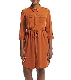 NY Collection Petites' Point Collar Dress