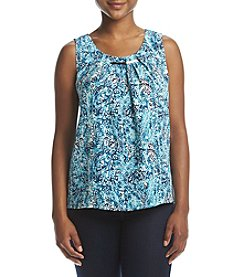 NY Collection Petites' Pleated Scoop Neck Top