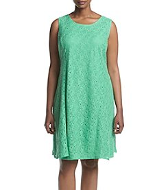 NY Collection Plus Size Lace Dress