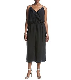 NY Collection Plus Size Spaghetti Strap V Neck Dress