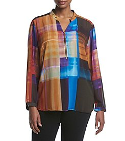 NY Collection Plus Size Colorblock Top