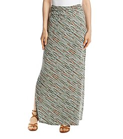 Sequin Hearts Stripe Maxi Skirt